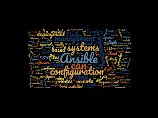 Ansible Word Cloud